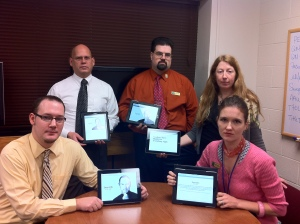 Five eli staff with iPads