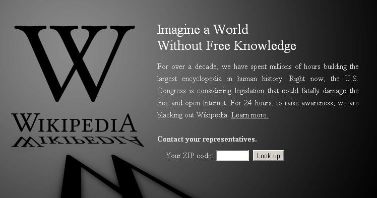 wikipedia protest logo