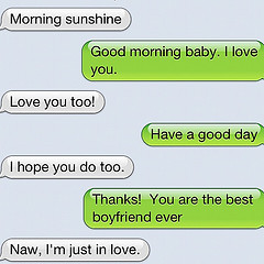 text messages from an iphone