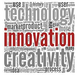 innovation creativity technology word art
